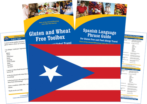 GlutenFree Passport Gluten Free Travel Paks Puerto Rico Gluten Free Travel Kit