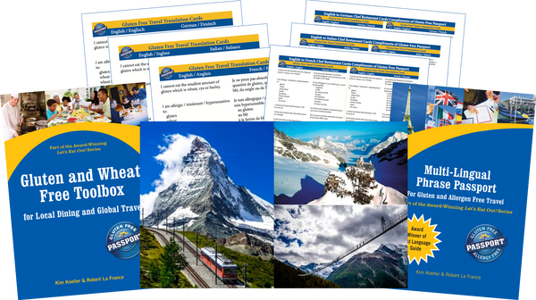 GlutenFree Passport Gluten Free Travel Paks Switzerland Gluten Free Travel Bundle