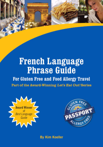 GlutenFree Passport Language Phrase Guides French / English Phrase Translation Ebook