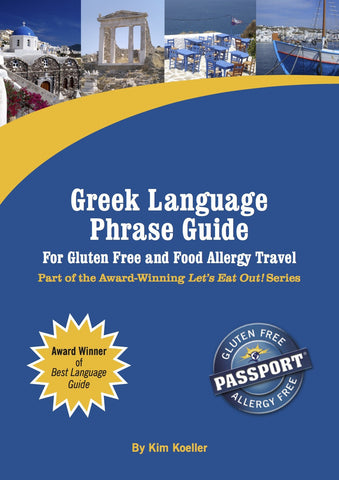 GlutenFree Passport Language Phrase Guides Greek / English Phrase Translation Ebook