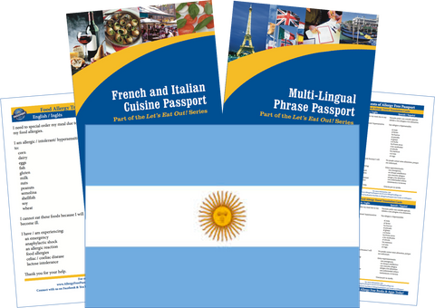 GlutenFree Passport Travel Paks (Paper) Argentina Food Allergy Travel Kit (PAPER)
