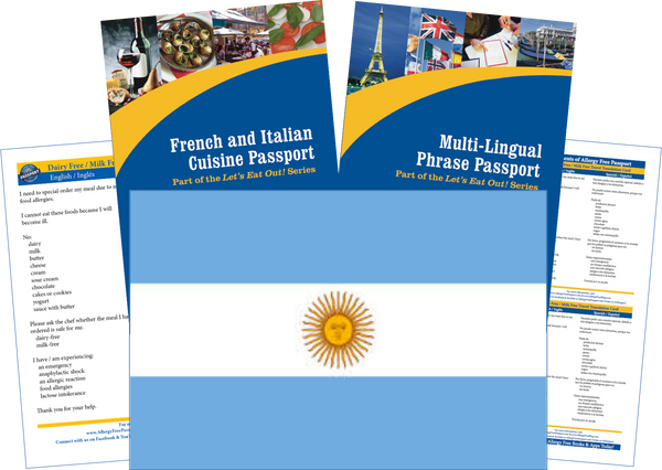 GlutenFree Passport Travel Paks (Paper) Argentina Milk Allergy Travel Kit (PAPER)
