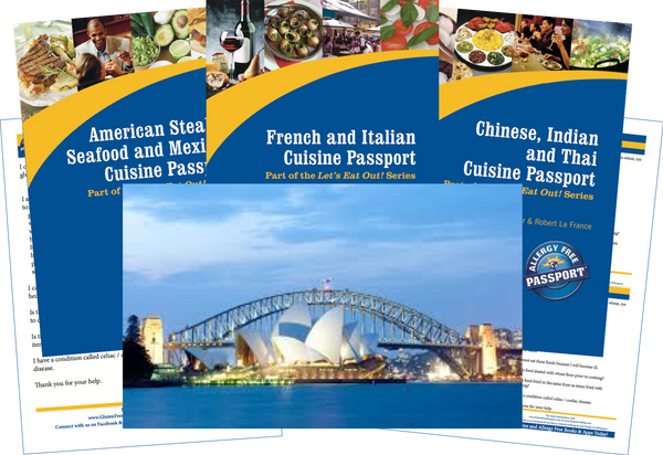 GlutenFree Passport Travel Paks (Paper) Australia Gluten Free Travel Bundle (PAPER)
