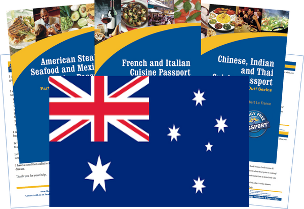GlutenFree Passport Travel Paks (Paper) Australia Gluten Free Travel Kit (PAPER)