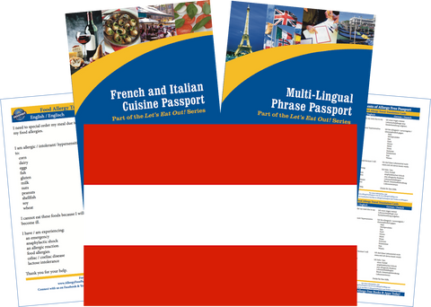 GlutenFree Passport Travel Paks (Paper) Austria Food Allergy Travel Kit (PAPER)