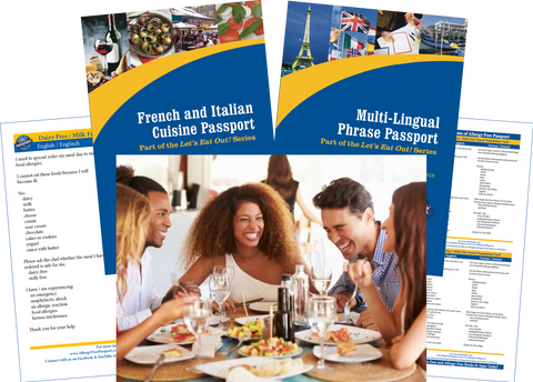GlutenFree Passport Travel Paks (Paper) Austria Milk Allergy Travel Bundle (PAPER)
