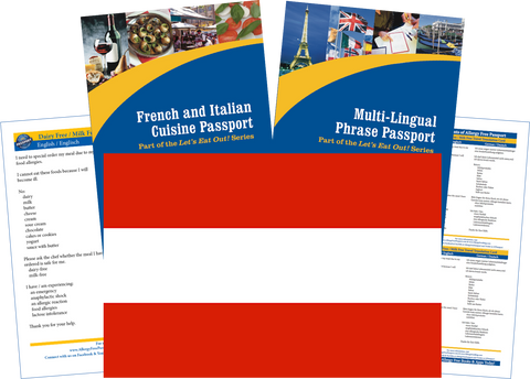 GlutenFree Passport Travel Paks (Paper) Austria Milk Allergy Travel Kit (PAPER)