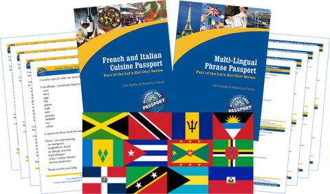 GlutenFree Passport Travel Paks (Paper) Caribbean Food Allergy Travel Kit (PAPER)