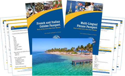 GlutenFree Passport Travel Paks (Paper) Caribbean Milk Allergy Travel Bundle (PAPER)
