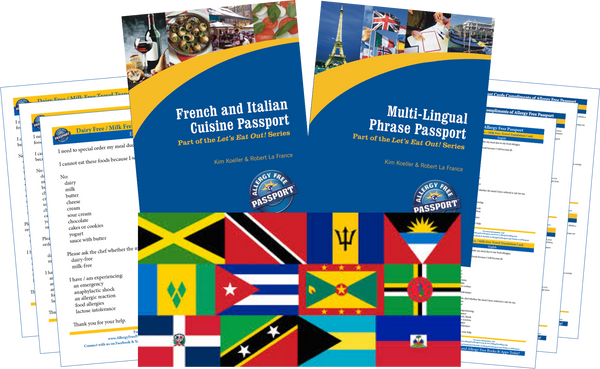 GlutenFree Passport Travel Paks (Paper) Caribbean Milk Allergy Travel Kit (PAPER)