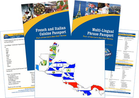 GlutenFree Passport Travel Paks (Paper) Central America Food Allergy Travel Kit (PAPER)
