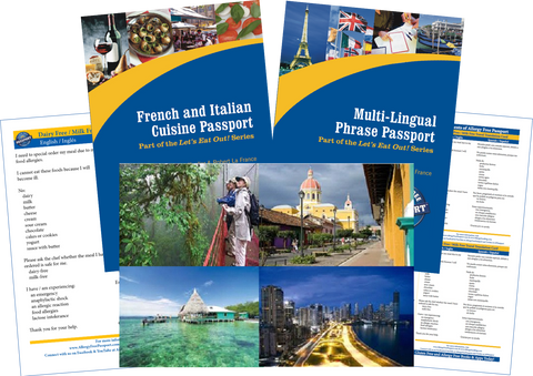 GlutenFree Passport Travel Paks (Paper) Central America Milk Allergy Travel Bundle (PAPER)