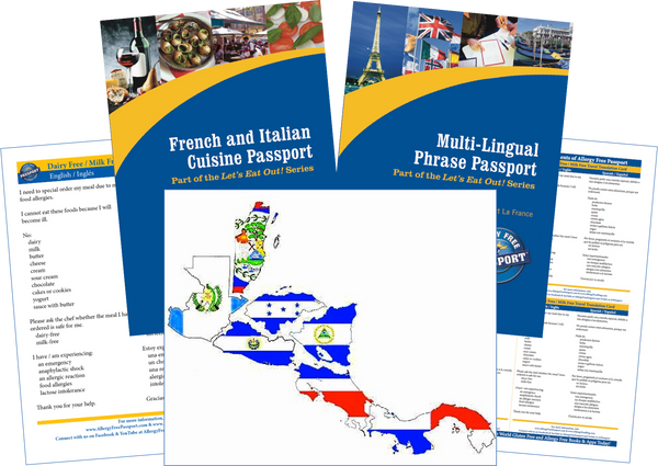 GlutenFree Passport Travel Paks (Paper) Central America Milk Allergy Travel Kit (PAPER)