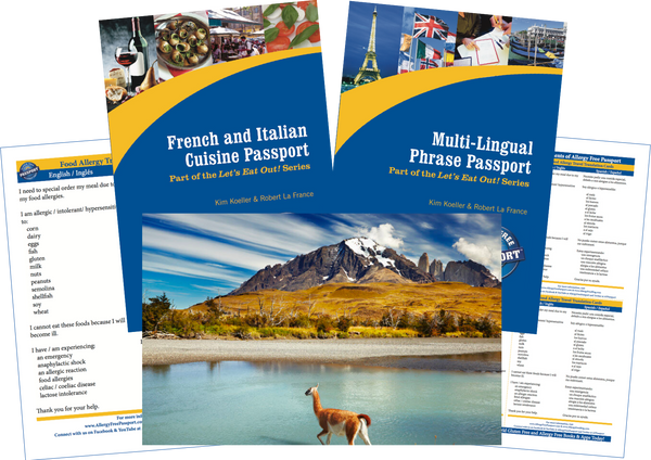 GlutenFree Passport Travel Paks (Paper) Chile Food Allergy Travel Bundle (PAPER)