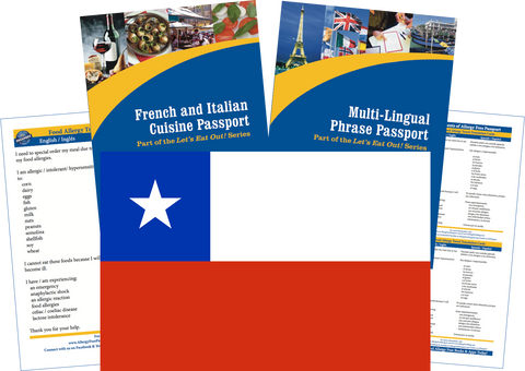 GlutenFree Passport Travel Paks (Paper) Chile Food Allergy Travel Kit (PAPER)