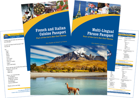 GlutenFree Passport Travel Paks (Paper) Chile Milk Allergy Travel Bundle (PAPER)