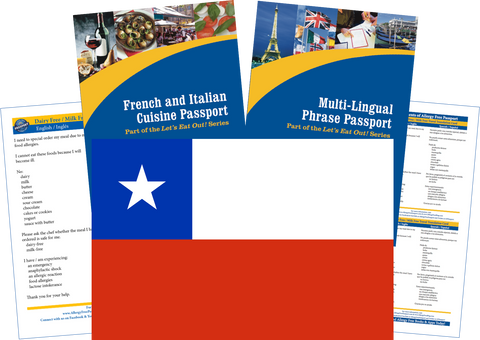 GlutenFree Passport Travel Paks (Paper) Chile Milk Allergy Travel Kit (PAPER)