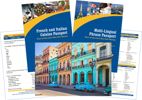 GlutenFree Passport Travel Paks (Paper) Cuba Food Allergy Travel Bundle (PAPER)