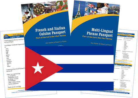 GlutenFree Passport Travel Paks (Paper) Cuba Food Allergy Travel Kit (PAPER)