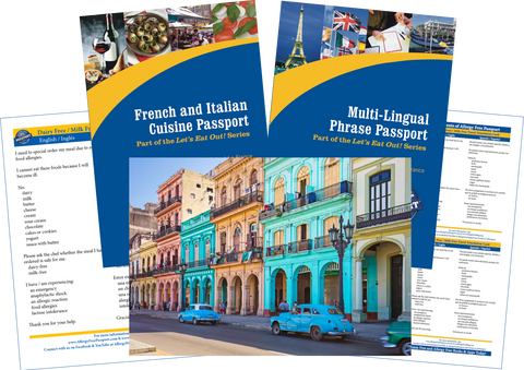 GlutenFree Passport Travel Paks (Paper) Cuba Milk Allergy Travel Bundle (PAPER)