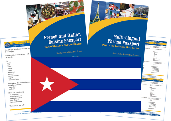GlutenFree Passport Travel Paks (Paper) Cuba Milk Allergy Travel Kit (PAPER)