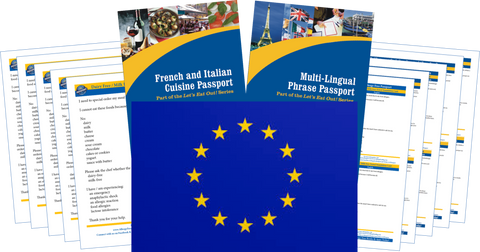 GlutenFree Passport Travel Paks (Paper) Europe Milk Allergy Travel Kit (PAPER)
