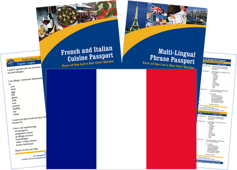 GlutenFree Passport Travel Paks (Paper) France Food Allergy Travel Kit (PAPER)