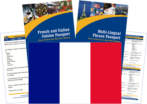 GlutenFree Passport Travel Paks (Paper) France Gluten Free Travel Kit (PAPER)