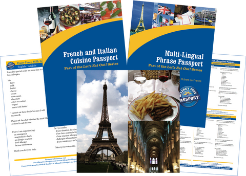 GlutenFree Passport Travel Paks (Paper) France Milk Allergy Travel Bundle (PAPER)