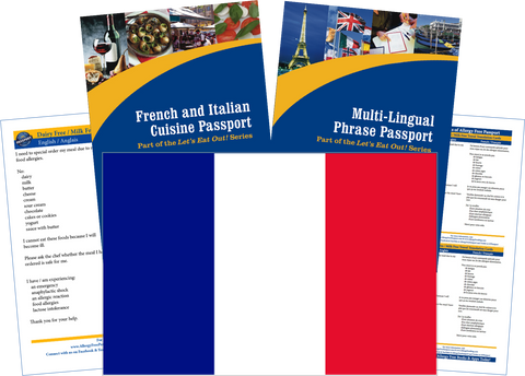 GlutenFree Passport Travel Paks (Paper) France Milk Allergy Travel Kit (PAPER)
