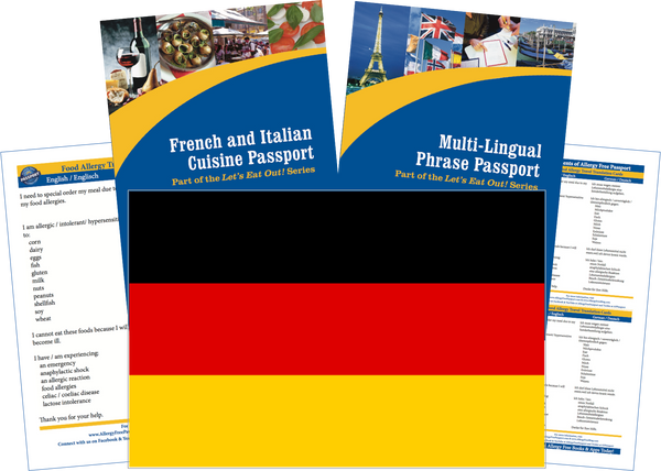 GlutenFree Passport Travel Paks (Paper) Germany Food Allergy Travel Kit (PAPER)
