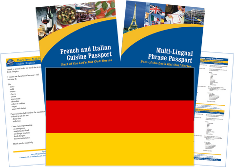 GlutenFree Passport Travel Paks (Paper) Germany Milk Allergy Travel Kit (PAPER)