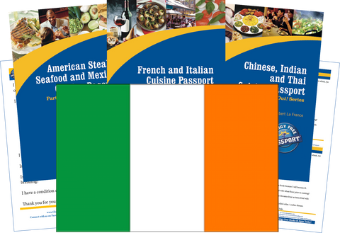 GlutenFree Passport Travel Paks (Paper) Ireland Gluten Free Travel Kit (PAPER)