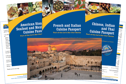 GlutenFree Passport Travel Paks (Paper) Israel Gluten Free Travel Bundle (PAPER)