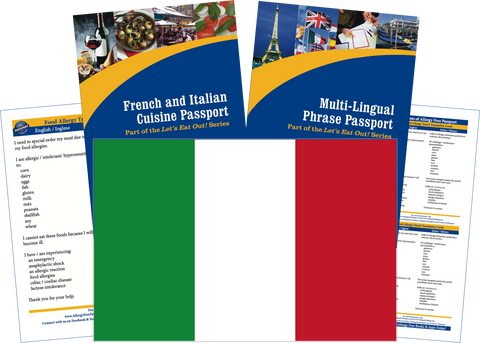 GlutenFree Passport Travel Paks (Paper) Italy Food Allergy Travel Kit (PAPER)