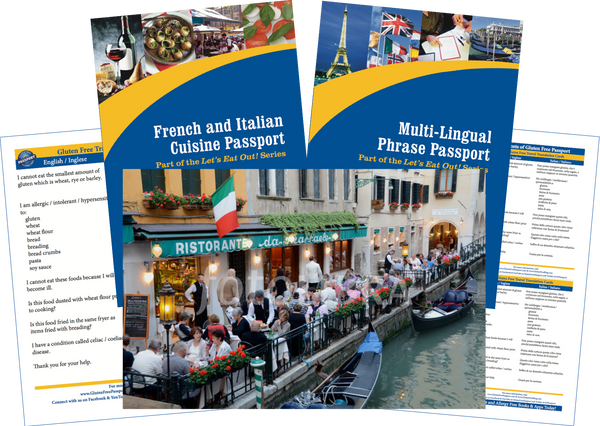 GlutenFree Passport Travel Paks (Paper) Italy Gluten Free Travel Bundle (PAPER)