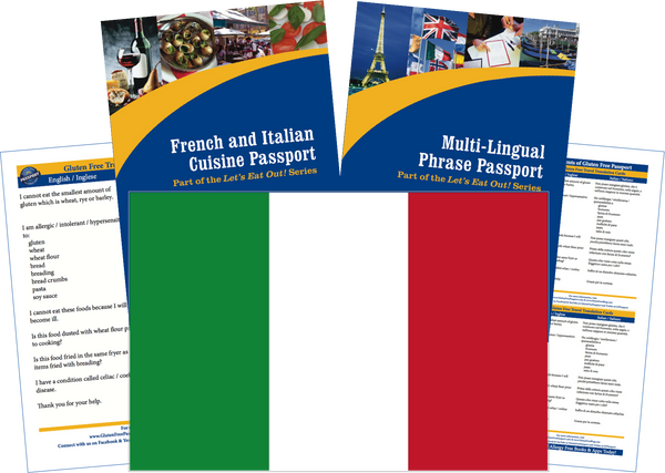 GlutenFree Passport Travel Paks (Paper) Italy Gluten Free Travel Kit (PAPER)
