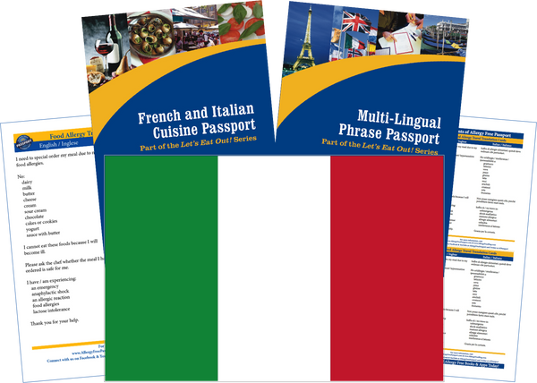 GlutenFree Passport Travel Paks (Paper) Italy Milk Allergy Travel Kit (PAPER)