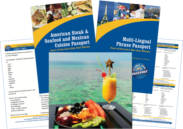 GlutenFree Passport Travel Paks (Paper) Mexico Food Allergy Travel Bundle (PAPER)