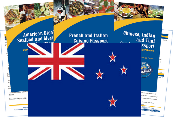 GlutenFree Passport Travel Paks (Paper) New Zealand Gluten Free Travel Kit (PAPER)