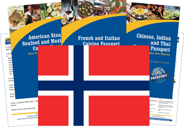 GlutenFree Passport Travel Paks (Paper) Norway Gluten Free Travel Kit (PAPER)