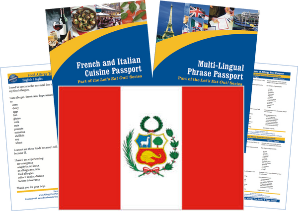 GlutenFree Passport Travel Paks (Paper) Peru Food Allergy Travel Kit (PAPER)