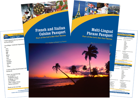 GlutenFree Passport Travel Paks (Paper) Puerto Rico Food Allergy Travel Bundle (PAPER)