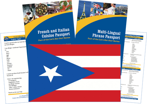 GlutenFree Passport Travel Paks (Paper) Puerto Rico Food Allergy Travel Kit (PAPER)