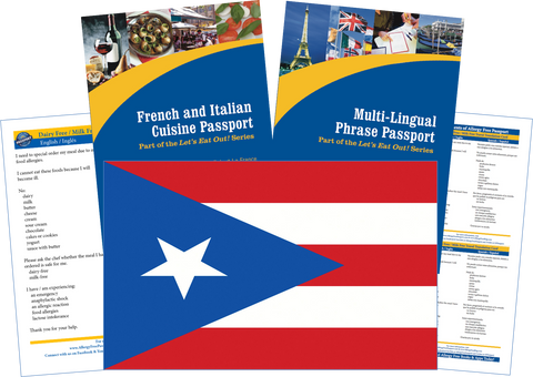 GlutenFree Passport Travel Paks (Paper) Puerto Rico Milk Allergy Travel Kit (PAPER)
