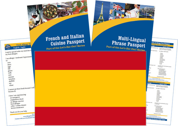 GlutenFree Passport Travel Paks (Paper) Spain Food Allergy Travel Kit (PAPER)