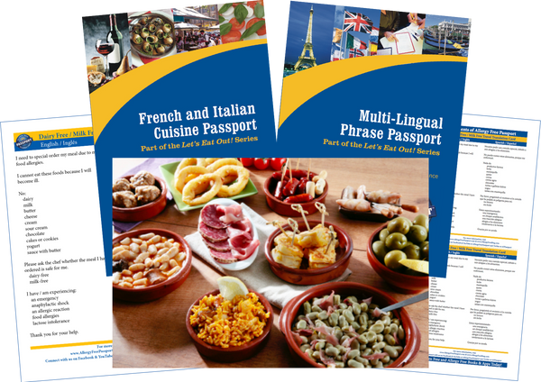 GlutenFree Passport Travel Paks (Paper) Spain Milk Allergy Travel Bundle (PAPER)