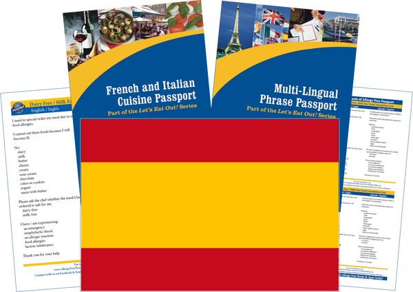 GlutenFree Passport Travel Paks (Paper) Spain Milk Allergy Travel Kit (PAPER)