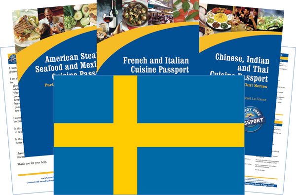 GlutenFree Passport Travel Paks (Paper) Sweden Gluten Free Travel Kit (PAPER)