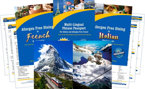 GlutenFree Passport Travel Paks (Paper) Switzerland Food Allergy Travel Bundle (PAPER)